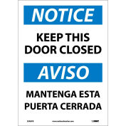 Bilingual Vinyl Sign - Notice Keep This Door Closed