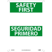 Bilingual Plastic Sign - Safety First Blank