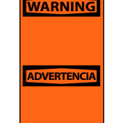 Bilingual Machine Labels - Warning Blank with Header Only