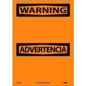 Bilingual Vinyl Sign - Warning Blank