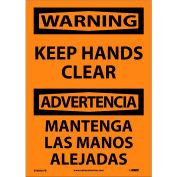 Bilingual Vinyl Sign - Warning Keep Hands Clear