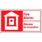 Bilingual Fire Sign - Fire Alarm Alarma De Incendios - Plastic