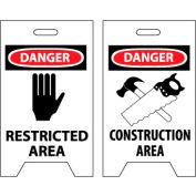 Floor Sign - Danger Restricted Area Construction Area
