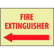Glow Sign Rigid Plastic - Fire Extinguisher Left Arrow