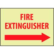 Glow Sign Rigid Plastic - Fire Extinguisher Right Arrow