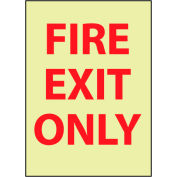 Glow Sign Rigid Plastic - Fire Exit Only
