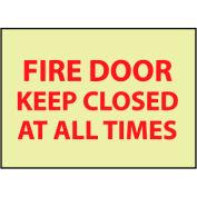 Glow Sign Vinyl - Fire Door Keep Closed