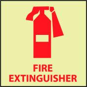 Glow Sign Rigid Plastic - Fire Extinguisher