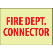 Glow Sign Rigid Plastic - Fire Dept. Connector