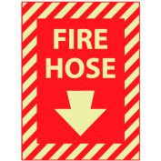Glow Sign Rigid Plastic - Fire Hose(With Down Arrow)