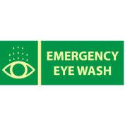 Glow Sign Rigid Plastic - Emergency Eye Wash
