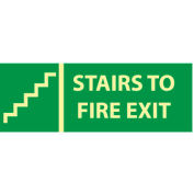 Glow Sign Vinyl - Stairs To Exit