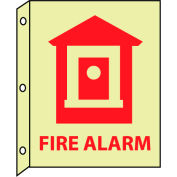 3D Glow Sign Plastic - 10X8 Fire Alarm