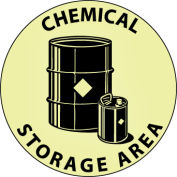 Glow Floor Sign - Chemical Storage Area