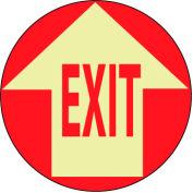 Glow Floor Sign - Exit w/ Arrow