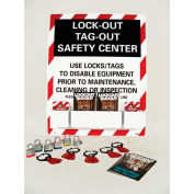 Lockout Tagout Safety Center with Lockout Supplies