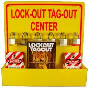 Lockout Tagout Center W/ Tags & Handbook