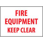 Fire Safety Sign - Fire Equipment Keep Clear - Vinyl