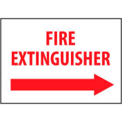 Fire Safety Sign - Fire Extinguisher with Right Arrow - Plastic