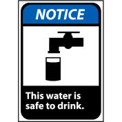 Notice Sign 10x7 Vinyl - This Water Is Safe To Drink