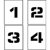 """Individual Character Stencil 24"""" - Number Set 0-9"""