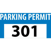 Parking Permit - Blue Bumper Decal 301 - 400