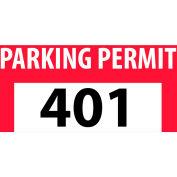 Stationnement permis - autocollant de butoir rouge 401-500