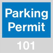 Stationnement permis - pare-brise bleu 101-200