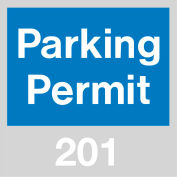 Stationnement permis - pare-brise bleu 201-300