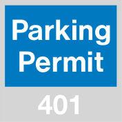 Parking Permit - Blue Windshield 401 - 500