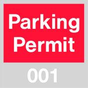 Stationnement permis - rouge pare-brise 001-100