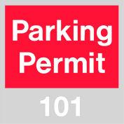 Stationnement permis - rouge pare-brise 101-200