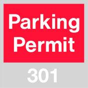 Stationnement permis - rouge pare-brise 301-400