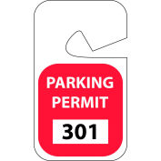 Parking Permit - Red Rearview 301 - 400
