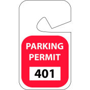 Parking Permit - Red Rearview 401 - 500