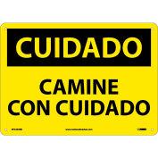 Spanish Plastic Sign - Cuidado Camine Con Cuidado