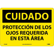 Spanish Plastic Sign - Cuidado Protección De Los Ojos Requerida