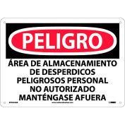 Spanish Aluminum Sign - Peligro Area De Almacenamiento De Despedicios Peligrosos