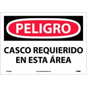 Spanish Vinyl Sign - Peligro Casco Requerido En Esta Area