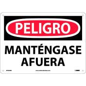 Spanish Aluminum Sign - Peligro Manténgase Afuera