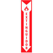 Fire Safety Sign - Spanish - Extinguidor - Plastic