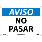 Spanish Aluminum Sign - Aviso No Pasar