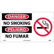 Bilingual Vinyl Sign - Danger No Smoking