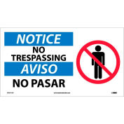 Bilingual Vinyl Sign - Notice No Trespassing