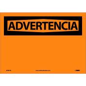 Spanish Vinyl Sign - Advertencia Blank
