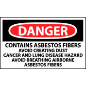 Roll of 500 Hazard Warning Vinyl Labels - Danger Contains Asbestos Fibers