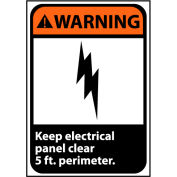 Panneau d'avertissement 14 x 10 vinyle - Keep électrique panneau clair