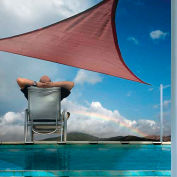 ShelterLogic 25671 Triangle Sun Shade Sail, 16'L, Terracotta