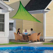 ShelterLogic 25674 Triangle Sun Shade Sail, 12'L, Celery