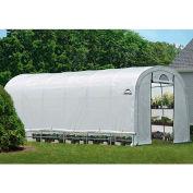 """ShelterLogic 70593 GrowIt® Heavy Duty Round Greenhouse, 12' x 24' x 8', 1-5/8"""" Frame Sz"""